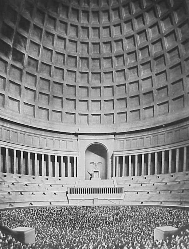 Дворец немецкого народа (так же известный как Зал Народа (нем. Volkshalle), Зал Славы, Великий Зал), арх. А. Шпеер, 1938-39 (макет), интерьер
