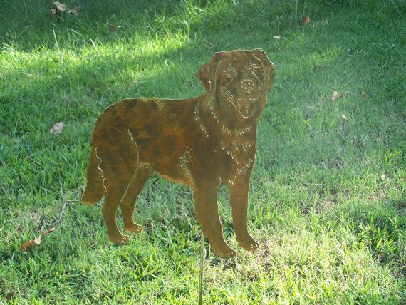 Golden Retriever Garden Stake Spring Yard Art By YourBreedNSteel