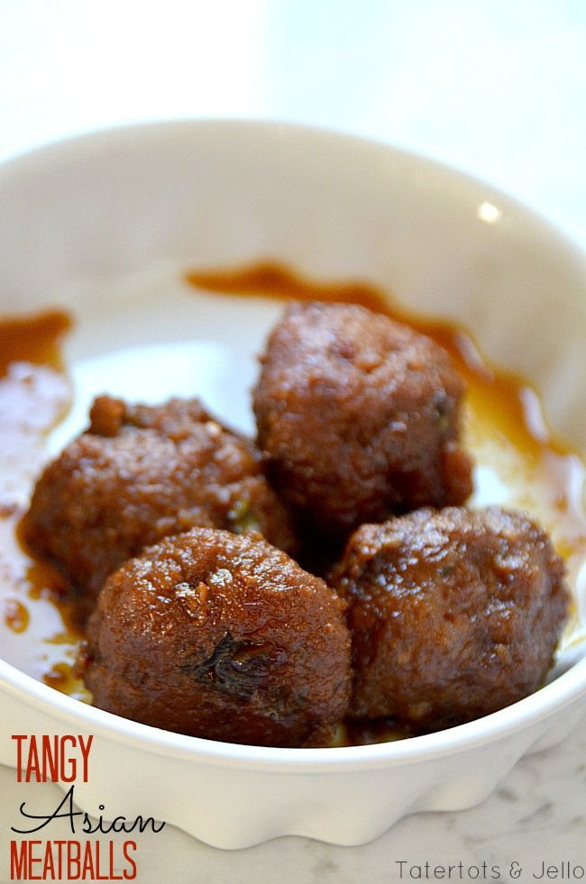 tangy asian meatballs - combine this recipe, too: http://chinese.food.com/recipe/chinese-meatballs-204