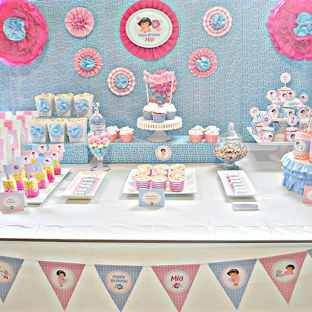 dora the explorer ballerina party | Girly Dora The Explorer Birthday Party - Kara's Party Ideas - The ...