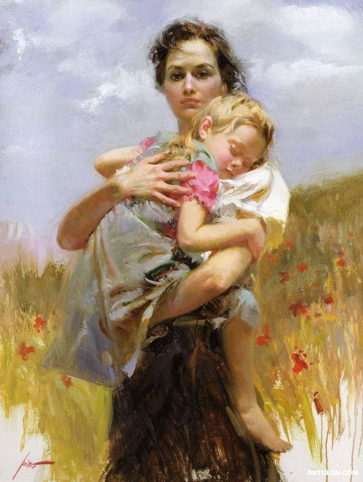 Mother and child by Pino (Giuseppe Dangelico)