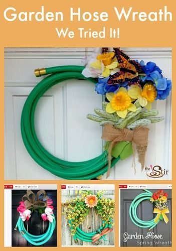 Cute idea! How to Turn Your Garden Hose Into a Simply Adorable Spring Wreath