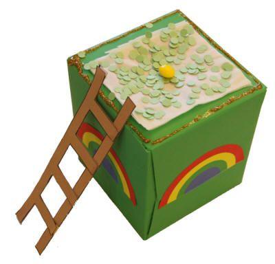 Leprechaun Trap using a kleenex box