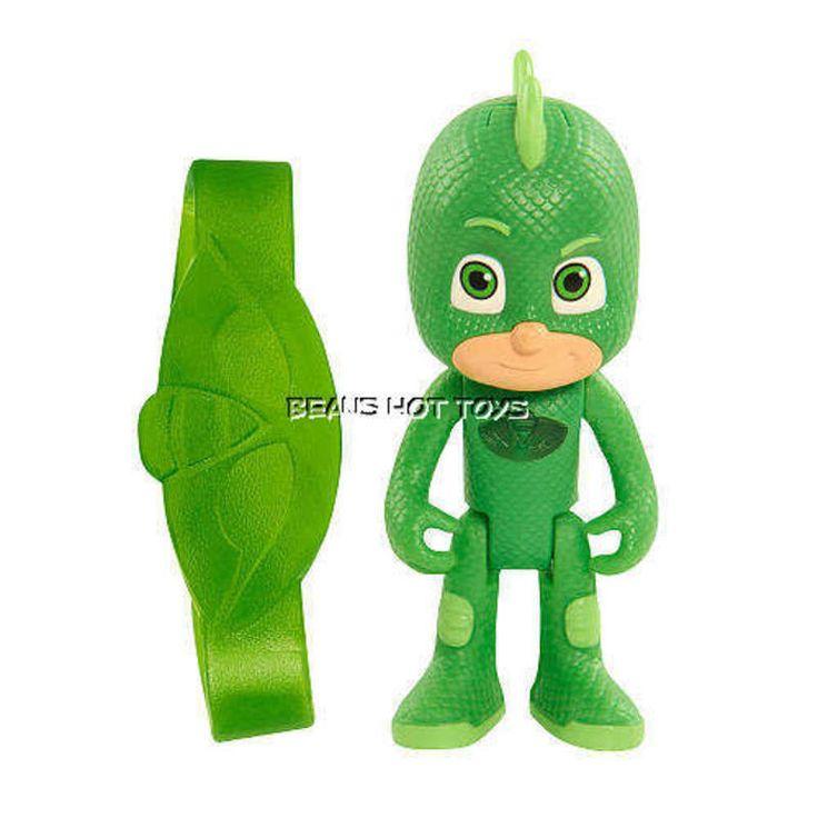 PJ Masks 3 inch Light Up Figure Toy - Gekko & Amulet Bracelet NEW #JustPlay