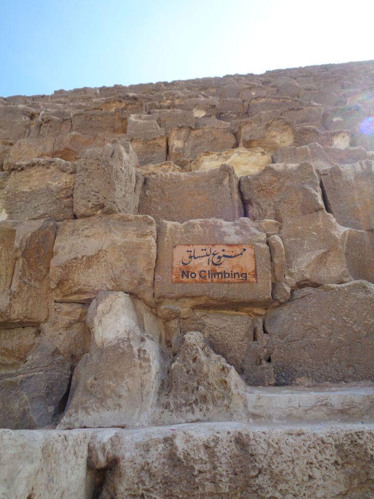 Schild an der Cheops-Pyramide