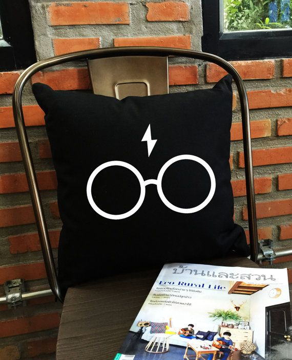Potterhead Pillow cover Harry potter Throw by Lessssismoreee