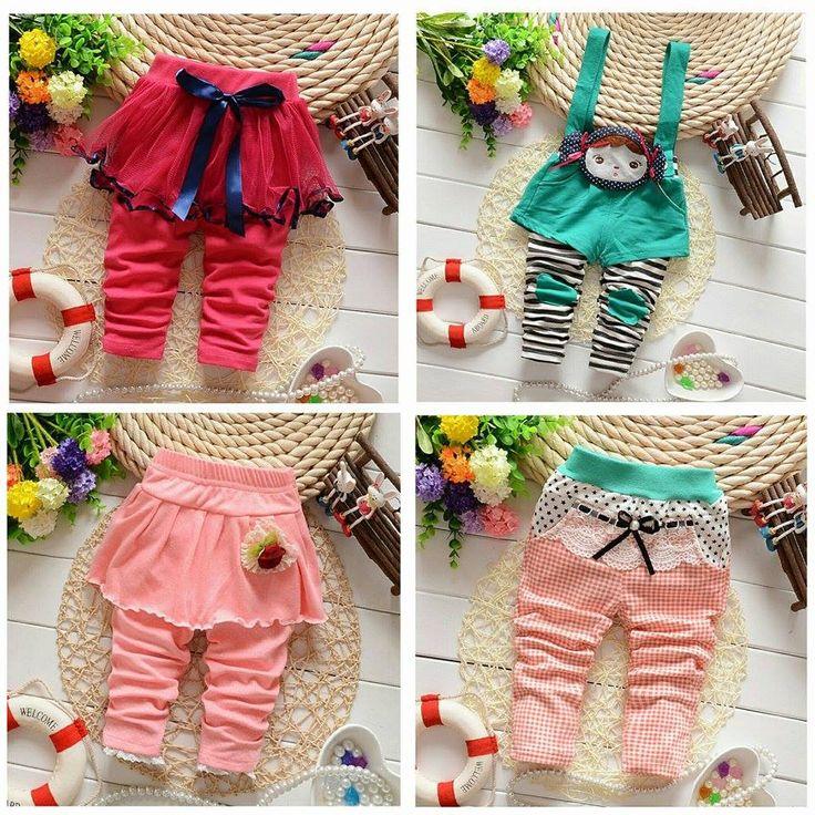 Baby girls cotton romper pants