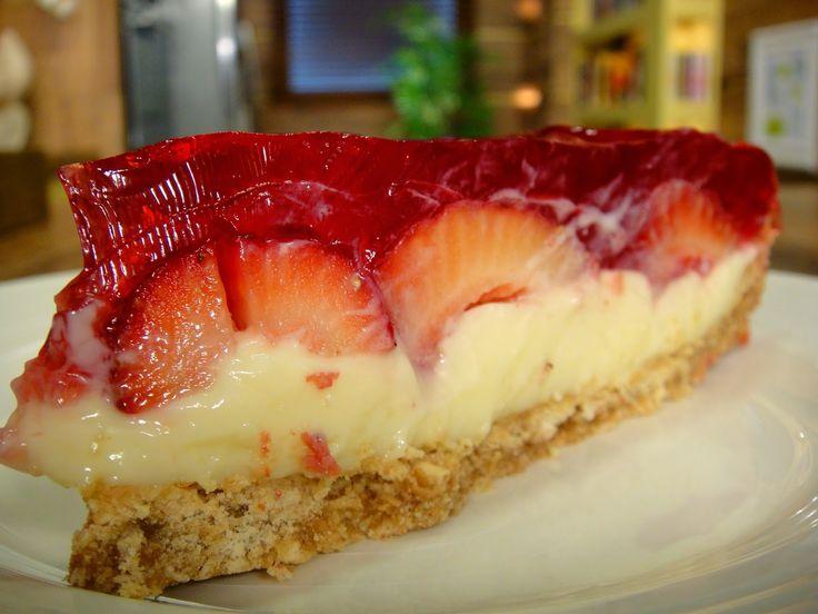 Creative: Torta Espelhada de Morangos