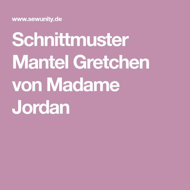 Schnittmuster Mantel Gretchen von Madame Jordan