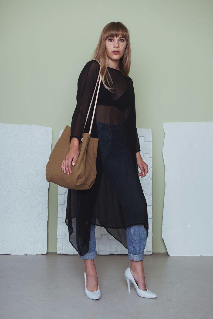 Secession Dress - Black Dream Pop Bag - Linen