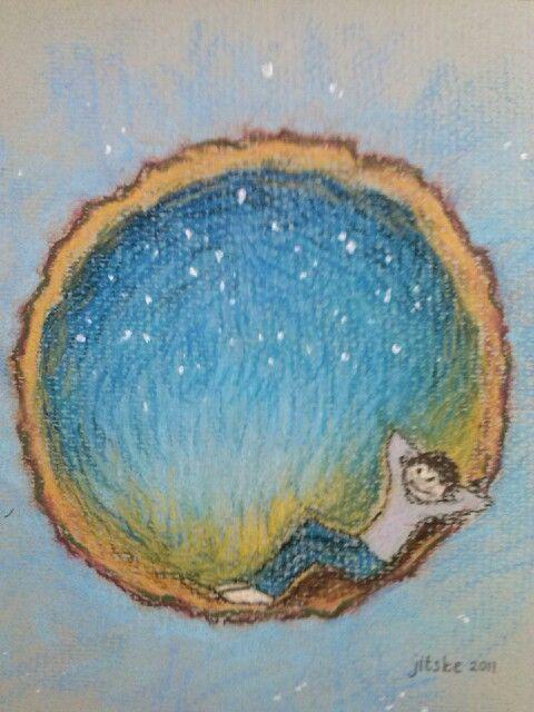 I have a dream- pastel illustration- by Jitske Jacobs