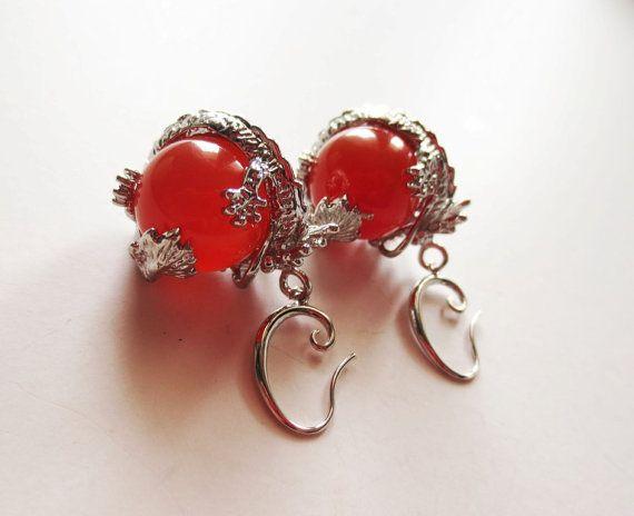 Dragon earrings. Dragon ball earrings. Round by LittleBearsMom