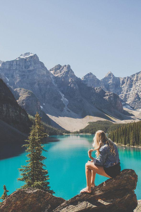 Mountain girl at Moraine Lake. Image by Man & Camera