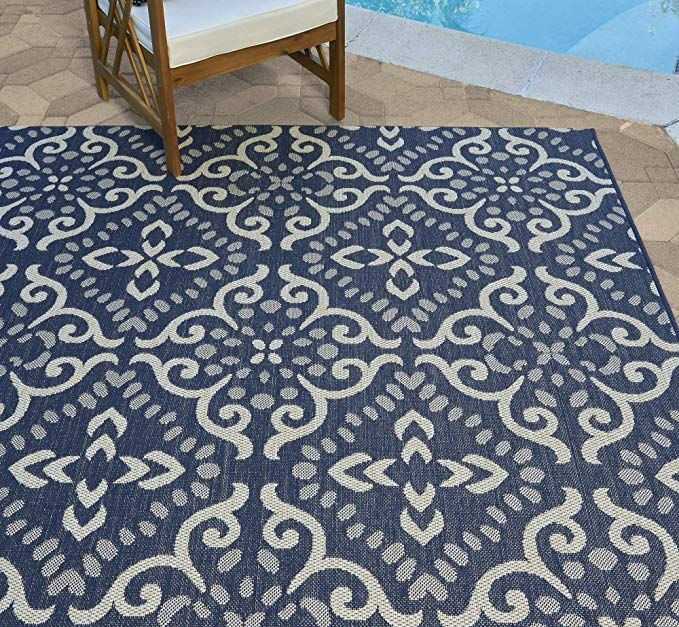 Amazon Com Gertmenian 21571 Coastal Tropical Carpet Outdoor