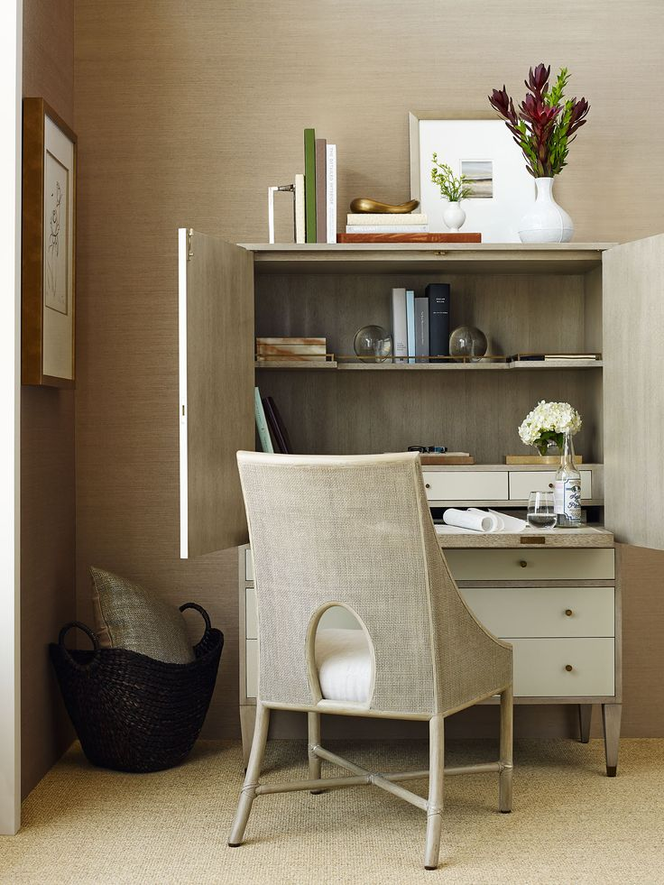 Form Meets Function With Baker Furniture, Perfect Desk For A Small Space.