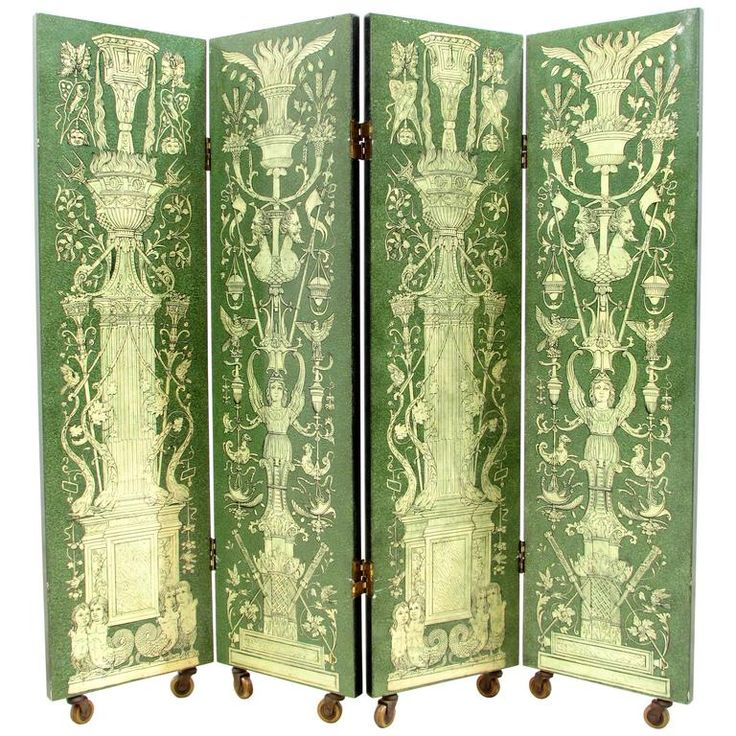Rare Four Panel Folding Screen by Piero Fornasetti | From a unique collection of antique and modern screens and room dividers at https://www.1stdibs.com/furniture/more-furniture-collectibles/screens/