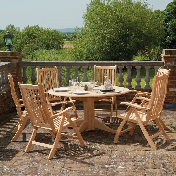 Although styles change over the years, wood is alway a popular choice for garden furniture, with manufacturers increasingly using more sustainable and responsibly grown woods like roble. It is strong, dense and highly durable. Left untreated it will gradually transform to a beautiful silver patina.