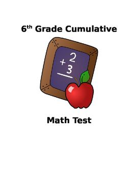 """A summative test I created on """"What 6th Graders Should Know"""". Good end of the year assessment!"""