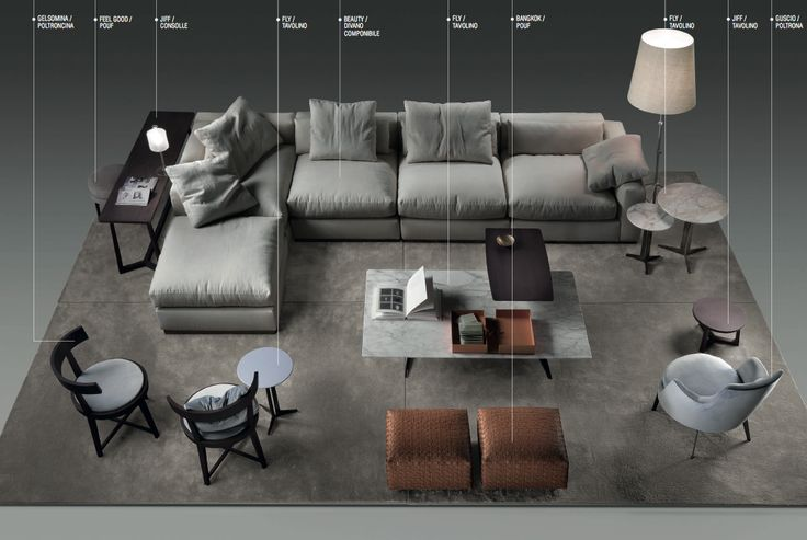 """""""Beauty"""" sofa by Flexform. 