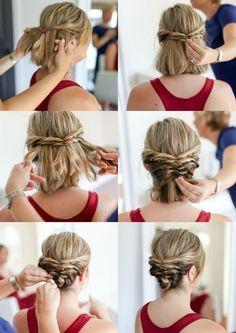 Hochsteckfrisuren mit Anleitung für kurze Haare