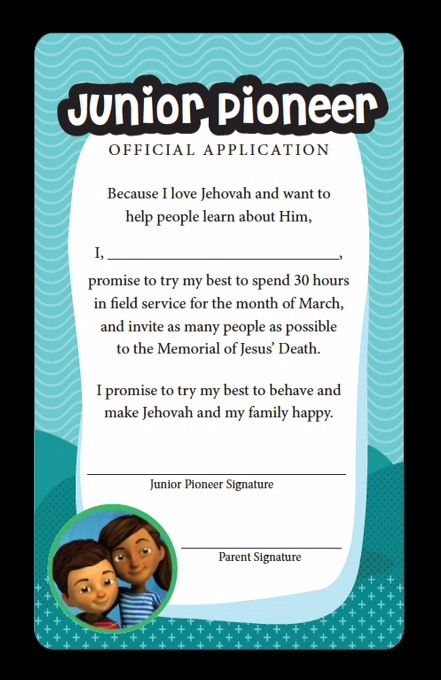 junior pioneer application
