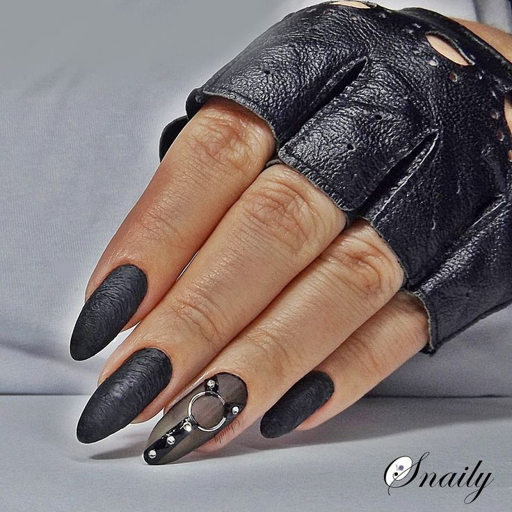 my first leather nails