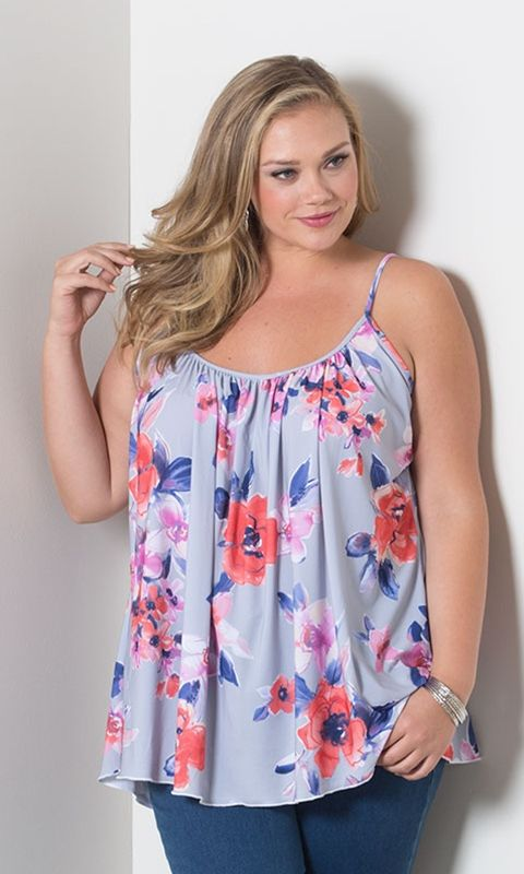 Plus Size Pretty Cami at Curvalicious Clothes
