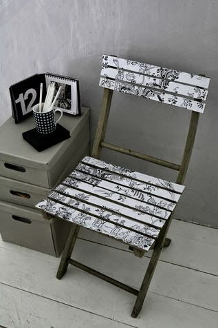 Folding chair decoupage