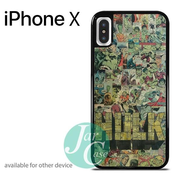Hulk in Comic Pattern Art Phone case for iPhone X