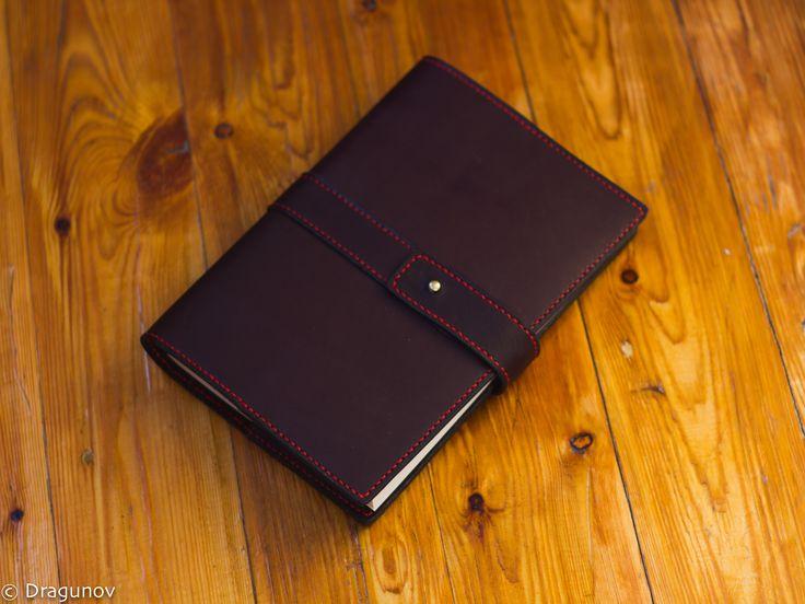 Блокнот из натуральной кожи ручной работы #leather #notebook #handmade #dragunov