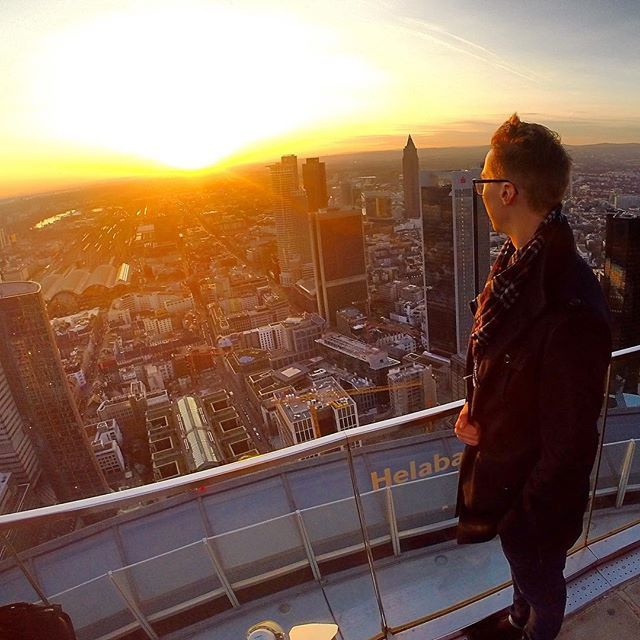 Well Frankfurt was fun... #germany #frankfurt #gopro #goprotravel #rooftop #view #sunset #sky #friends #skyline #skyscraper #architecture #travel
