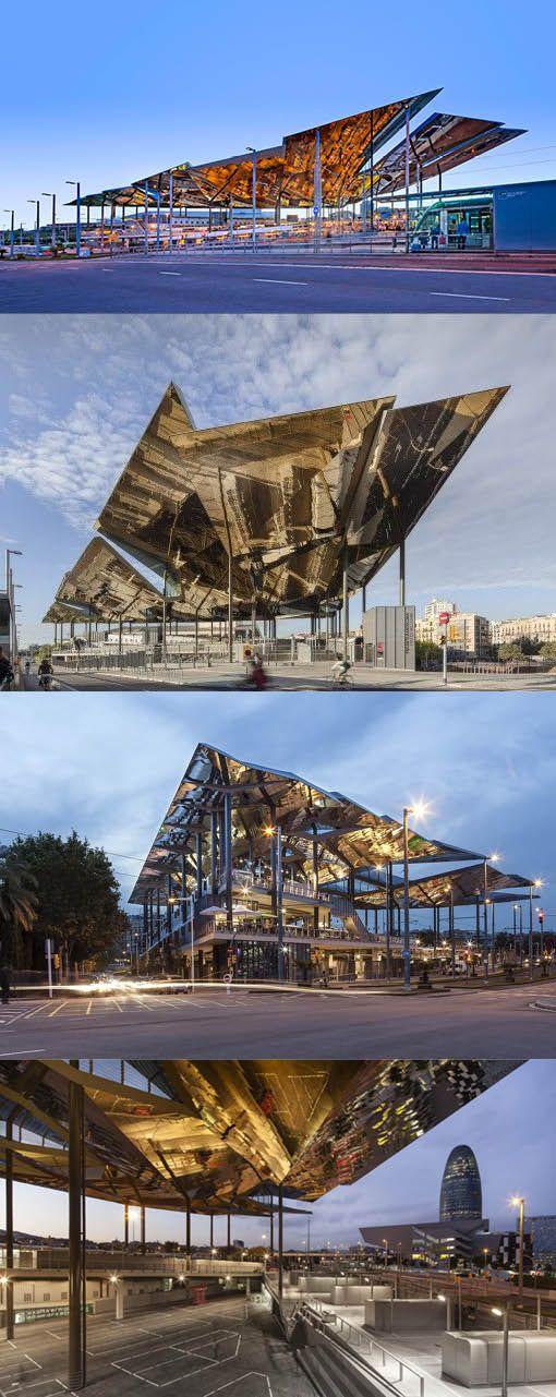 2013 Fermín Vázquez - Nou Mercat dels Encants / Barcelona Spain / B720 Architecture Studio / pavilion / steel mirror