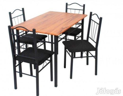 Eladó Renáta étkező garnitúra 4 személyes: Renáta fantázianévre hallgató kétszer használt étkezőgarnitúra keresi új gazdáját helyhiány miatt. Nagyon szép kovácsoltvas stílusú tartószerkezetű, fekete fehér pöttyös párnás székekkel.