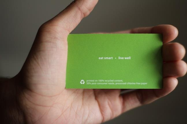 Just another way Silvergreens keeps it green! Our business cards ...