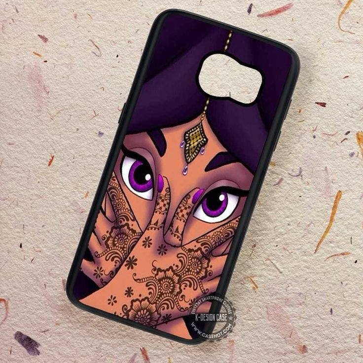 Princess Face Purple Beautifull Jasmine - Samsung Galaxy S7 S6 S5 Note 7 Cases & Covers