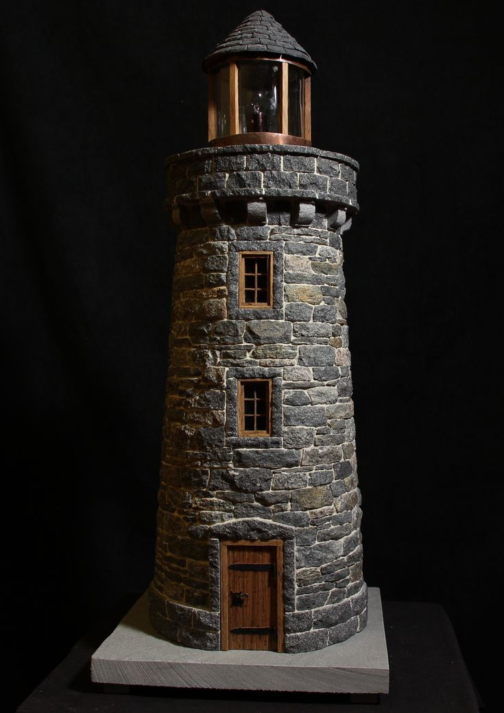 miniature stone lightehouse
