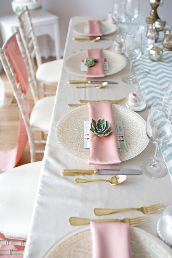 A pretty in pink romantic table setting. {Erin Walker Photography}