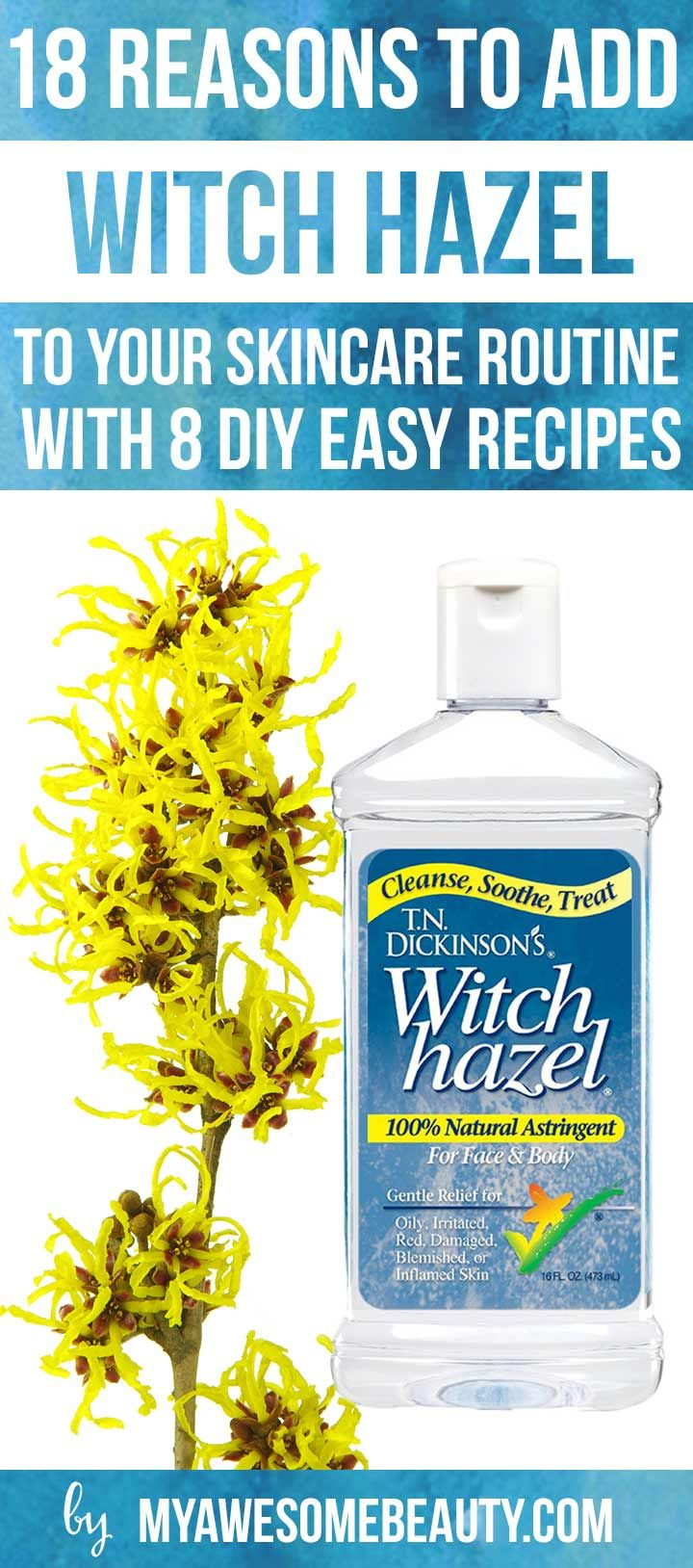 There are many unknown witch hazel uses and benefits. Learn why and how to use it effectively to cleanse, soothe and treat several skin issues naturally. ,  Erica Nikirk