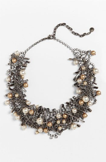 Tom Binns 'Punk Chic Pearls' Statement Necklace | Nordstrom  - diy this with old necklace, pearls & safety pins