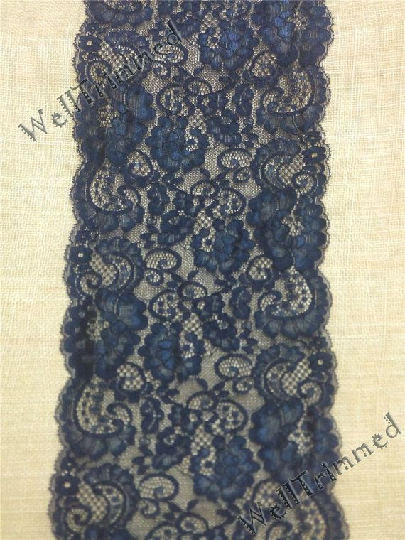 20ft Navy Table RunnerLace Table Runner Wt7641 By WellTrimmed