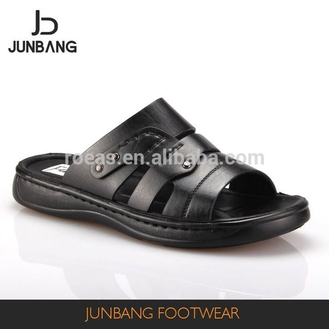 d89e599cd16 Source Factory sale special design black Iraq style handmade PU slippers  men on m.alibaba.com