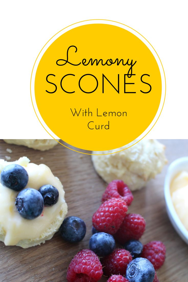 Scones with a difference - lemon!