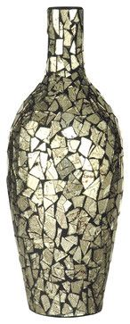 Dale Tiffany PG10264 Silver Vase - transitional - Vases - Lighting Front