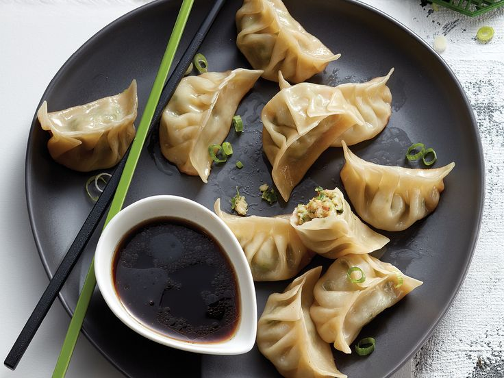 What's a party without potstickers? Lay out these onion- and shrimp-filled ones and watch them disappear.