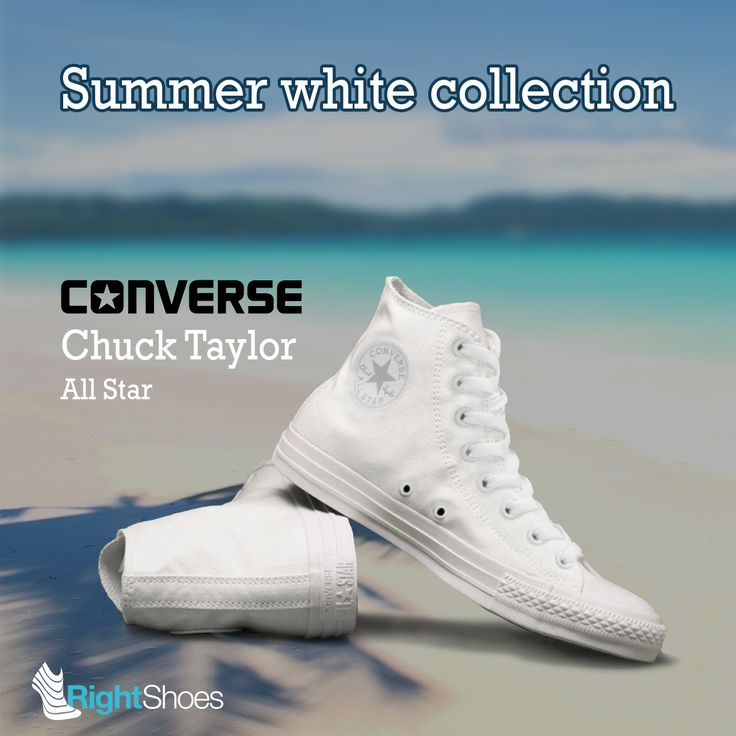 Discover new Converse summer white collection!  Find Converse Chuck Taylor All Star Monochrome white!  This is an all-white edition of the world's most iconic high top sneaker.  Discover on: http://ow.ly/fmiP301w7BL