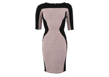 Černo-růžové bodycon šaty Closet