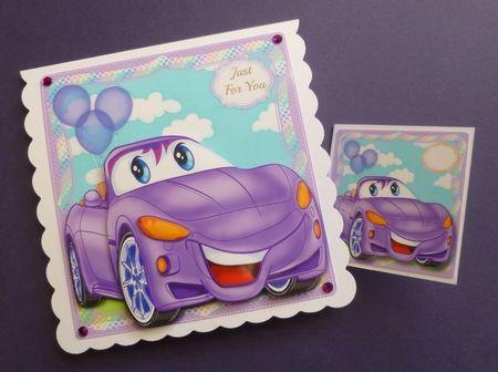 little Mauve  Birthday Car on Craftsuprint - View Now!