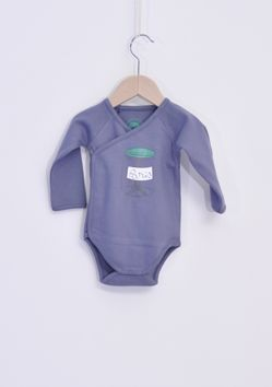 WINTER COLLECTION / La Queue Du Chat / Blue Onesie /  Adorable french print onesie, in 100% organic cotton. www.littlefrenchy.com.au #french #laqueueduchat #new #winter #littlefrenchy