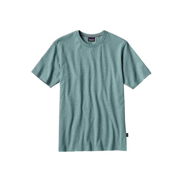 Men's Patagonia Daily Tee - Mogul Blue T-Shirts ($39) ❤ liked on Polyvore featuring men's fashion, men's clothing, men's shirts, men's t-shirts, patagonia mens shirts, mens blue shirt, mens blue t shirt, mens t shirts and mens muscle t shirts