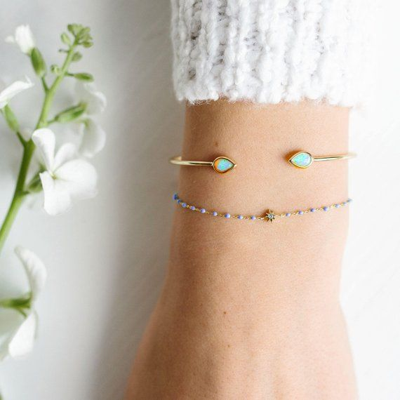 Dainty and Delicate Beaded Bracelet with Star Bead